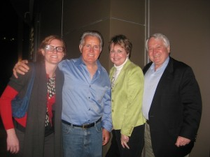 With Martin Sheen in L.A.