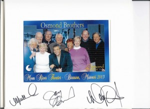 With the Osmond Brothers!